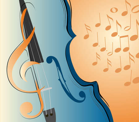violin with notes Stock Vector - 9695730