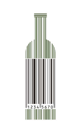 barcode scan: Wine bottle and barcode