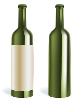 wine bottles  Illustration
