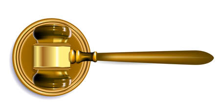 judge gavel  Stock Vector - 9695741