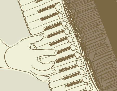 schizzo della fisarmonica