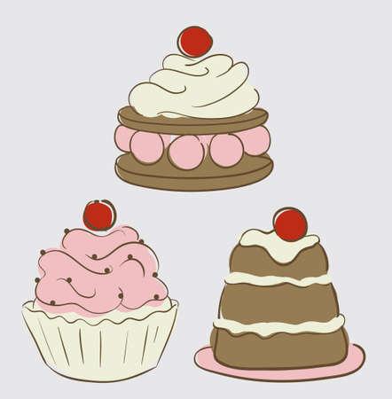 cupcakes Stock Vector - 9686885
