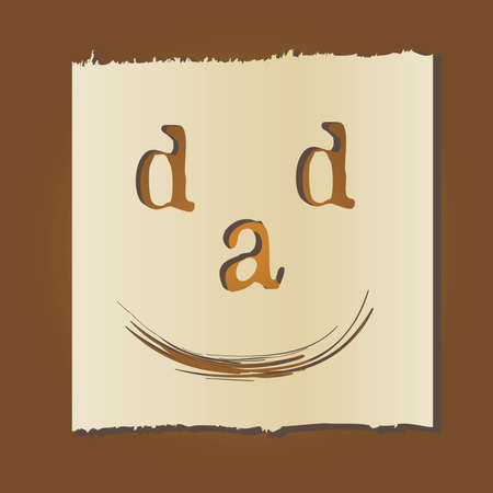 fathers day card template Vector