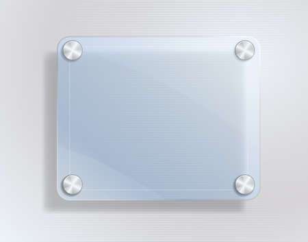 glass frame on metallic background Vector