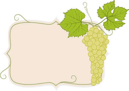 apprehension: frame with grapes
