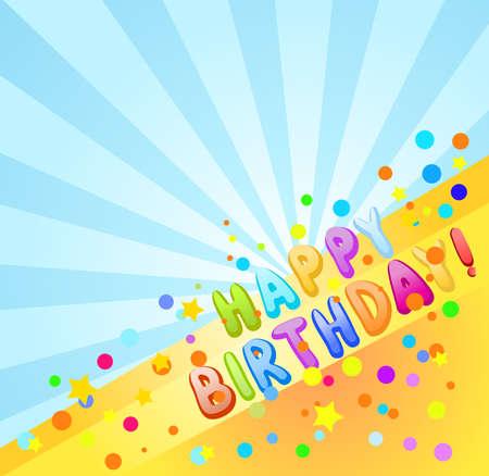 happy birthday background Stock Vector - 9654912