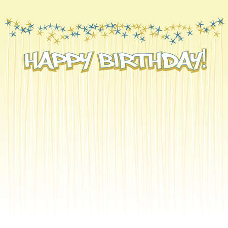 happy birthday background Stock Vector - 9654938