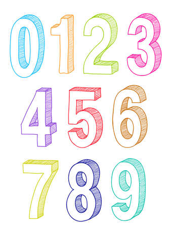 set of numbers Stock Vector - 9654983