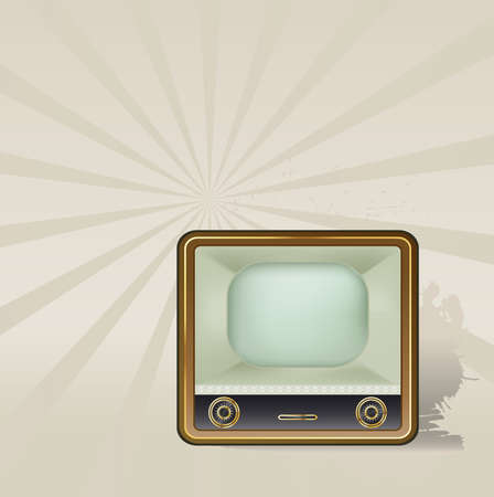 old tv with background Stock Vector - 9654970