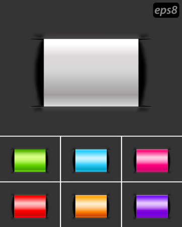 labels with color variations Vector