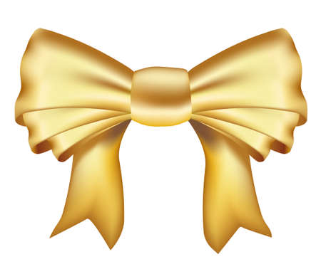 realistic golden ribbon. mesh used Illustration