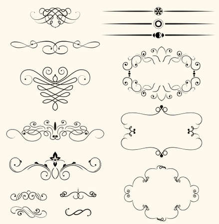 abstract decorative elements  Illustration