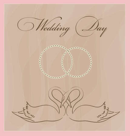 wedding card template Vector
