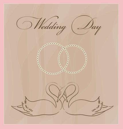 wedding card template Stock Vector - 9654987