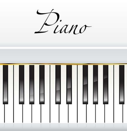 pianista: piano blanco con espacio para texto