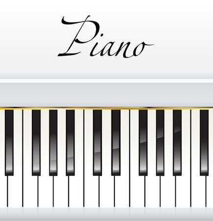 white piano with space for text Illustration