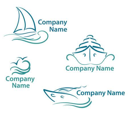 yachting symbols  Vector