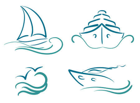 yacht isolated: yachting symbols