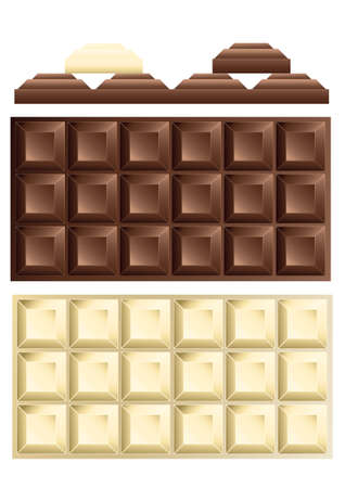 ailment: white and dark chocolate bar