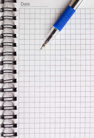 open notebook and a pen close-up Stock Photo - 11878043