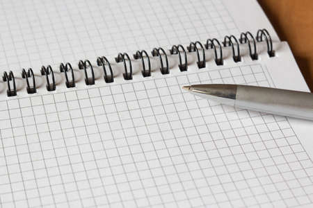 open notebook and a pen close-up Stock Photo - 11893589