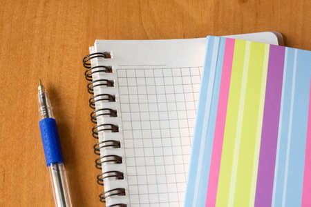 open notebook and a pen on office table Stock Photo - 11893595