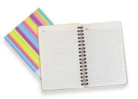 open notebook on white background Stock Photo - 11893571