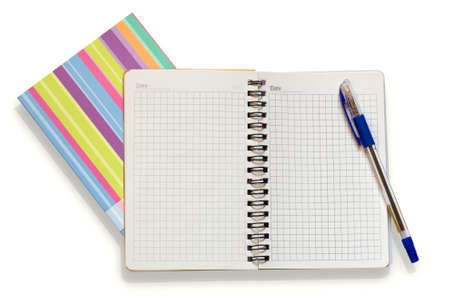 open notebook and a pen Stock Photo - 11893566