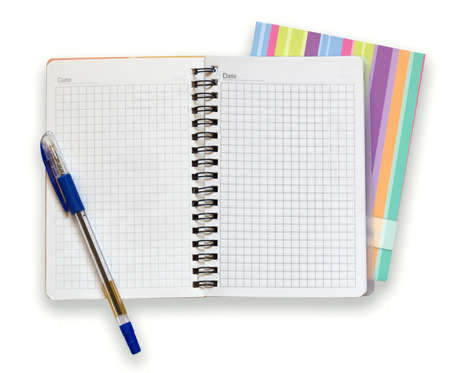 open notebook and a pen Stock Photo - 11893569