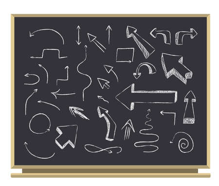 arrows on blackboard  Vector