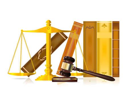 justice concept  Ilustrace