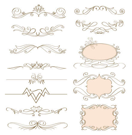 swirls and frames Stock Vector - 12448667