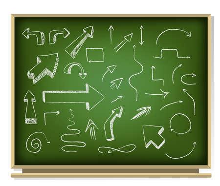 arrows on blackboard Illustration