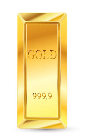 gold bar: golden bars on white background Illustration