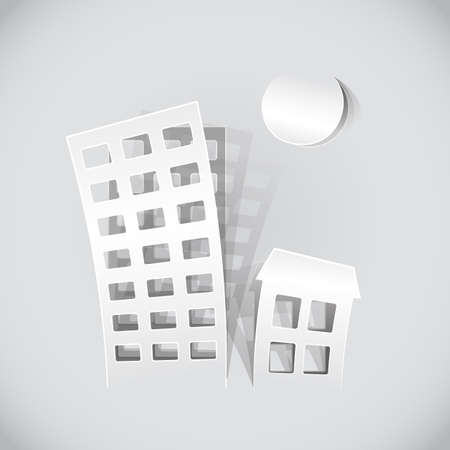 real estate symbols made of paper Vector