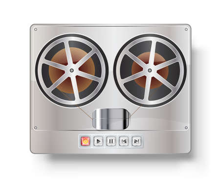 Vintage reel to reel tape recorder  Vector