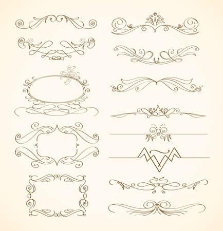 swirls and frames  Ilustracja