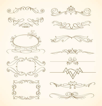adornment: swirls and frames  Illustration