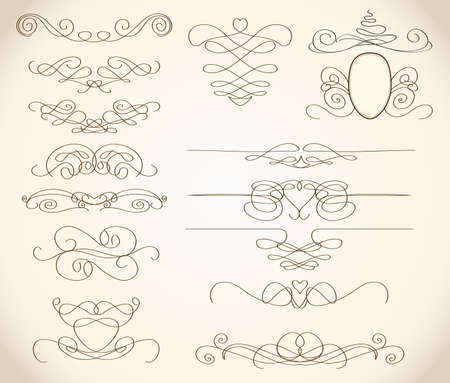 swirls and frames  Vector