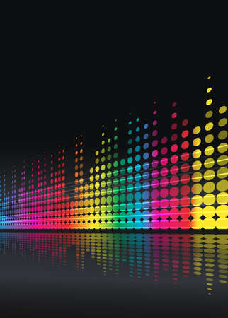 musical background with multicolored lines Vector