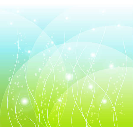 abstract spring background with lights Stock Vector - 12448811