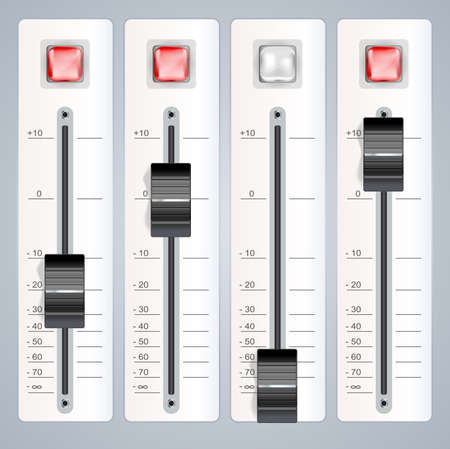 audio mixing console  Vector