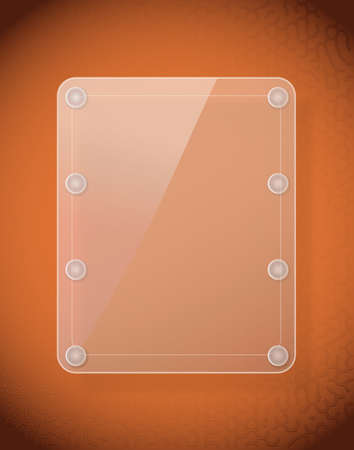 glass frame on leather texture Vector