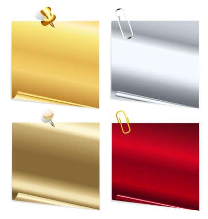 feedback label: set of metallic stickers