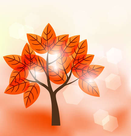 family gardening: abstract tree