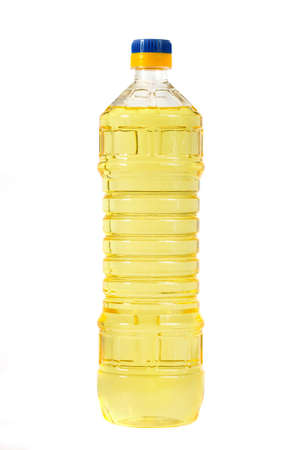 vinegar: vegetable oil in a plastic bottle