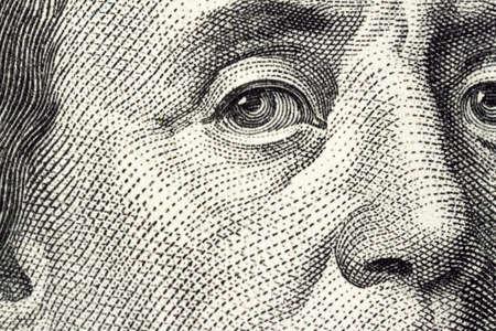 us currency: dollar macro Stock Photo