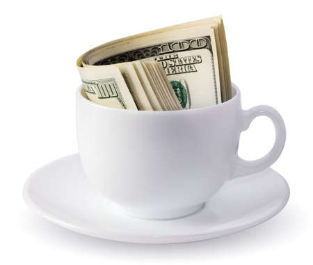 dollars in a cup photo