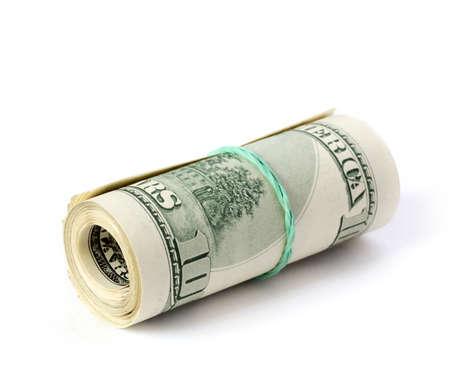 bank of america: folded dollars Stock Photo