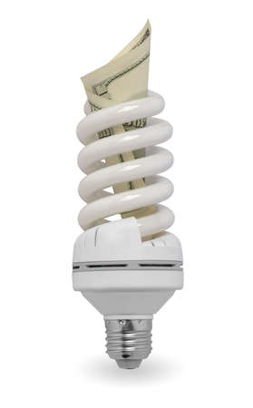 white lamp with dollars  photo
